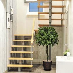 Модульная лестница Комфорт (с поворотом на 180 градусов и площадками)