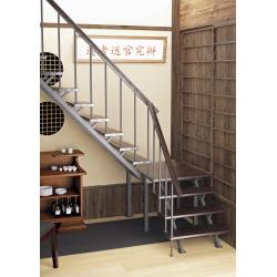 Комбинированная межэтажная лестница ЛЕС-05-3 (поворот 90, h 3м)