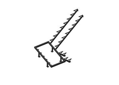 Каркас к лестнице ЛЕС-06 универсальной (поворот 180 градусов)