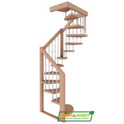 Лестница  ЛВ-1.0  П дуб (5 уп.)
