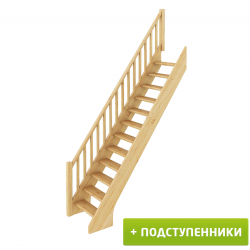 Лестница  ЛС-10у с подступенками сосна под покраску (4 уп)