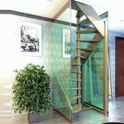Деревянная лестница ЛЕС-1,2 ВУ (поворот 360 градусов)
