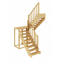 Лестница К-004м/2 П сосна (6 уп)