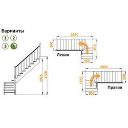 Лестница К-031м/4 П сосна (5 уп.)