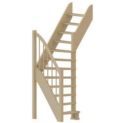 Лестница ЛС-91м+1 П, сосна (3 уп)