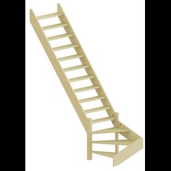 Лестница ЛС-14м Л (без поручня) сосна (2 уп)