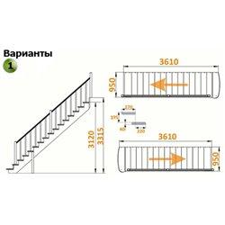 Лестница К-020у сосна ( 5 упак.)