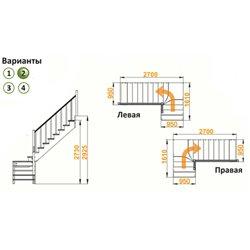 Лестница К-031м/2 Л сосна (5 уп.)