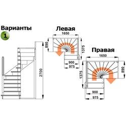 Лестница ЛС-05м П сосна под покраску (4 уп)