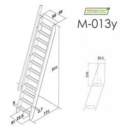 Лестница М-013у, ель (1 уп)