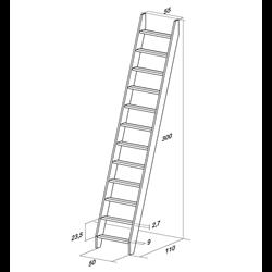 Лестница  М-013у (без поручня), сосна (1 уп)