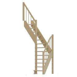 Лестница  ЛС-91м+2 Л, сосна  (3 уп) под покраску