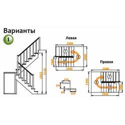 Лестница К-104м П сосна с подступенками (7 уп)